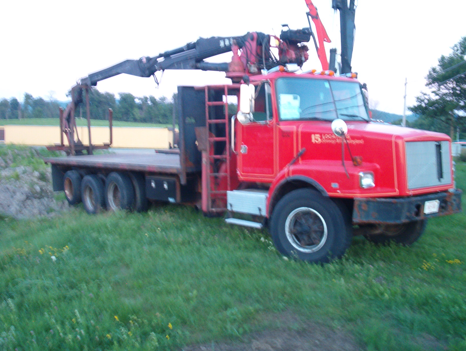 95 Volvo Drywall Crane For Sale